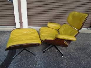Vintage Herman Miller Eames Chair and Footstool.
