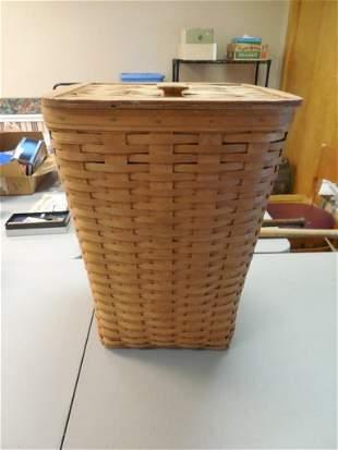Large Longaberger Basket Hamper with Lid