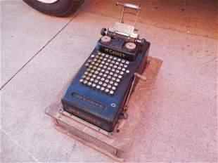 Antique McCaskey System Cash Register w/Base