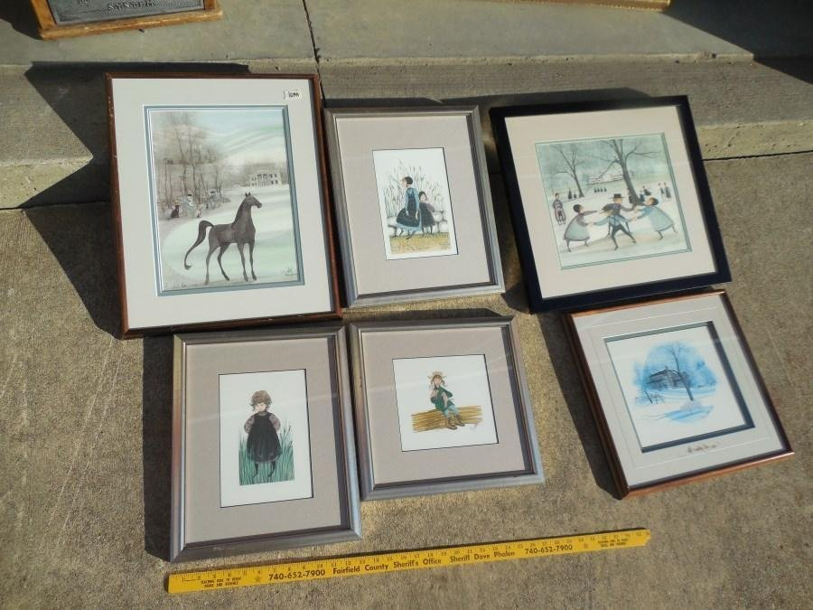 Group Lot of 6 P. Buckley Moss signed prints