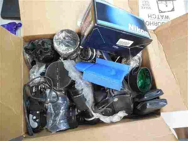 Huge Lot Vintage Cameras and Lenses