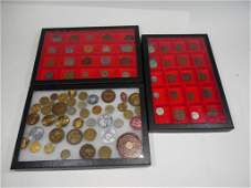 Large Collection Antique Coins + Tokens
