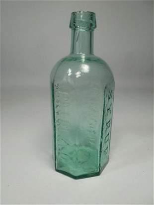 Antique Glass Bottle Syrup Schenck's w/ Pontil