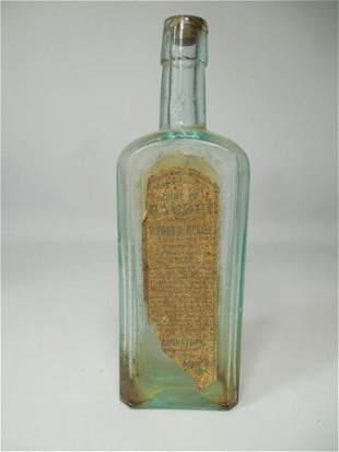 Antique Glass Bottle w/Label Wine of Cardui