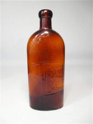 Antique Warner's Safe Cure Amber Glass Bottle