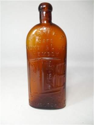 Antique Warner's Kidney Remedy Safe Glass Bottle