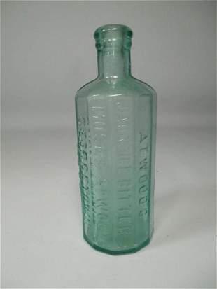 Antique Bottle Adwood's Jandice Bitters Glass