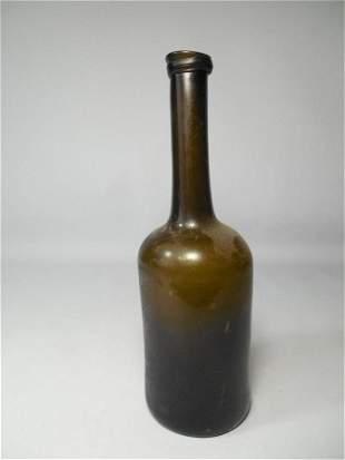 Antique Amber Glass Bottle Lady's Leg Pontil