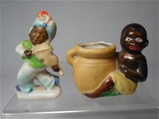 2 Occupied Japan Black Americana Pieces