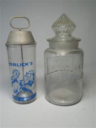 Horlick's Malted Milk Shaker/Counter Jar