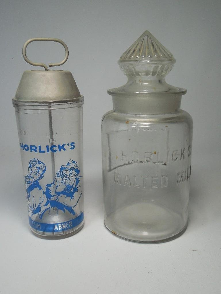 Horlick's Malted Milk Shaker/Counter Jar