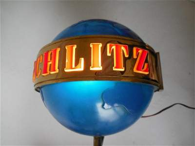 Antique Schlitz Beer Lamp Rotating Lighted