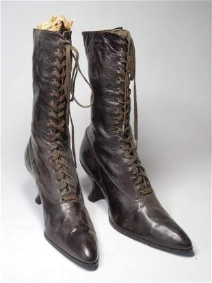 Pair Nice Victorian Lady's Boots