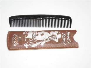 Antique Advertising Comb Holder w/Comb