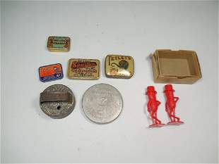 Group Lot of Advertising Smalls, Tins Peanuts etc