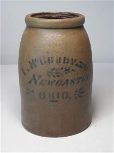 Rare Newcastle Ohio Stoneware Jar