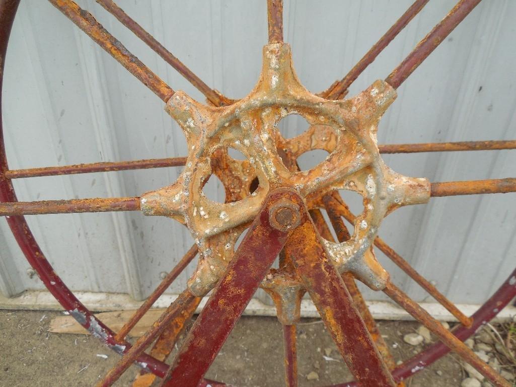 Antique Fire Engine Hose Reel w/Crank - 2