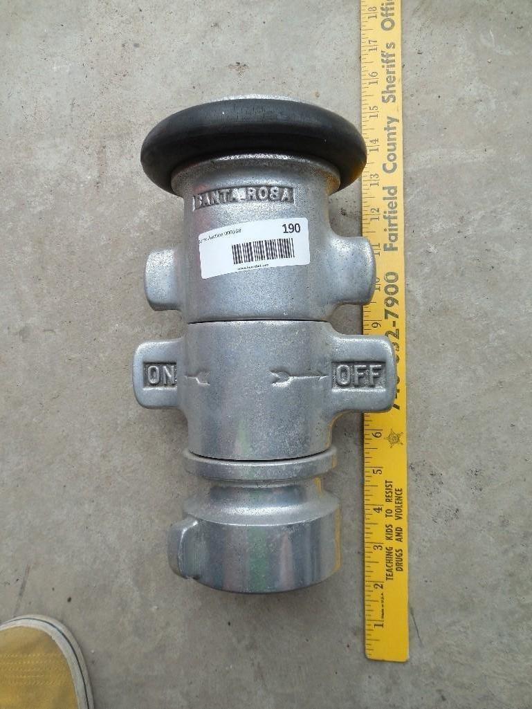 Large Antique Santa Rosa Fire Hose Nozzle - 2