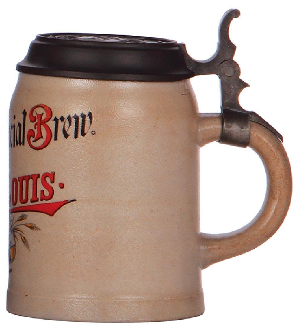 Stoneware stein, Lemp Brewing - 2