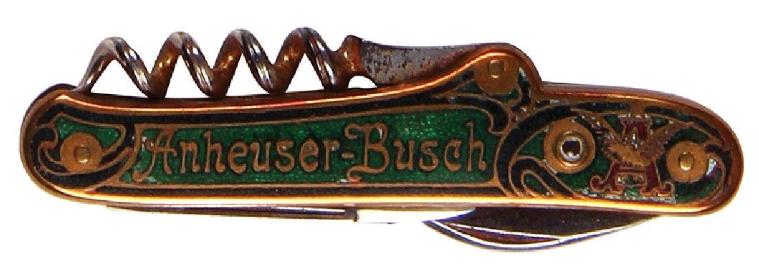Anheuser-Busch enameled pocket knife
