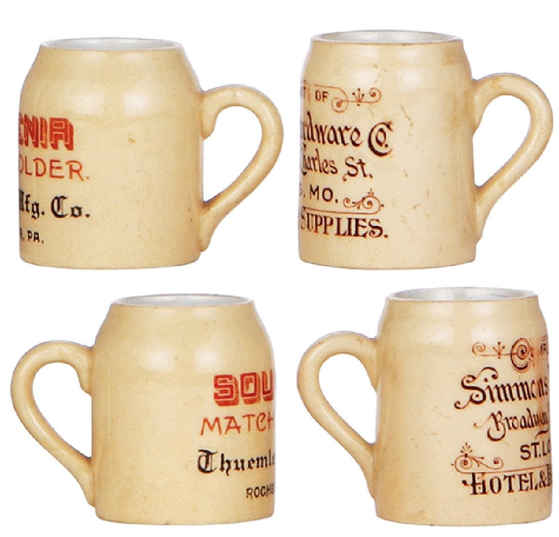 Two pottery mugs, advertising - 2