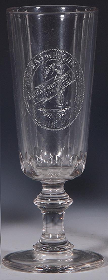 Pre-Prohibition embossed beer glass
