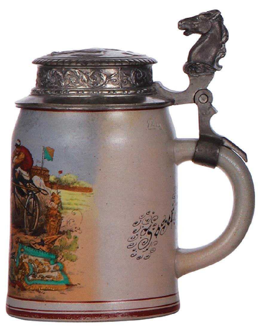 Stoneware stein, harness racing - 2