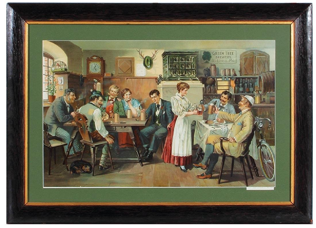 Green Tree Brewery Lithograph