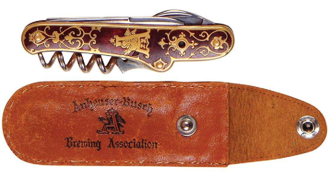 Anheuser-Busch enameled pocket knife - 2
