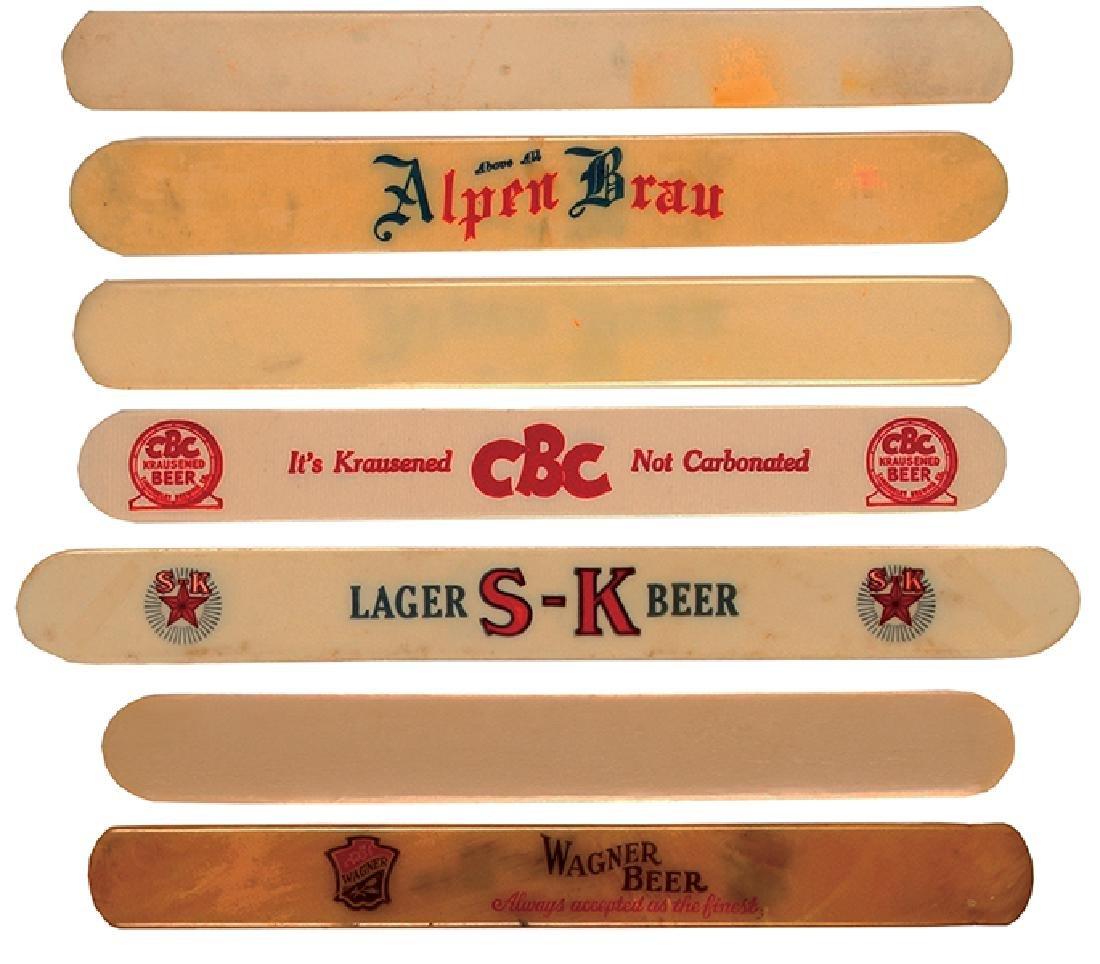 Seven beer foam scrapers - 2