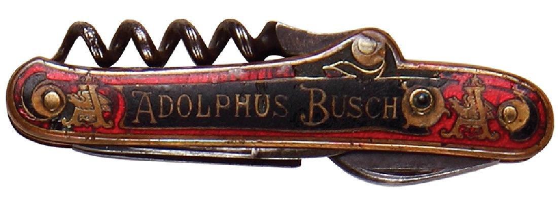 Anheuser-Busch enameled pocket knife