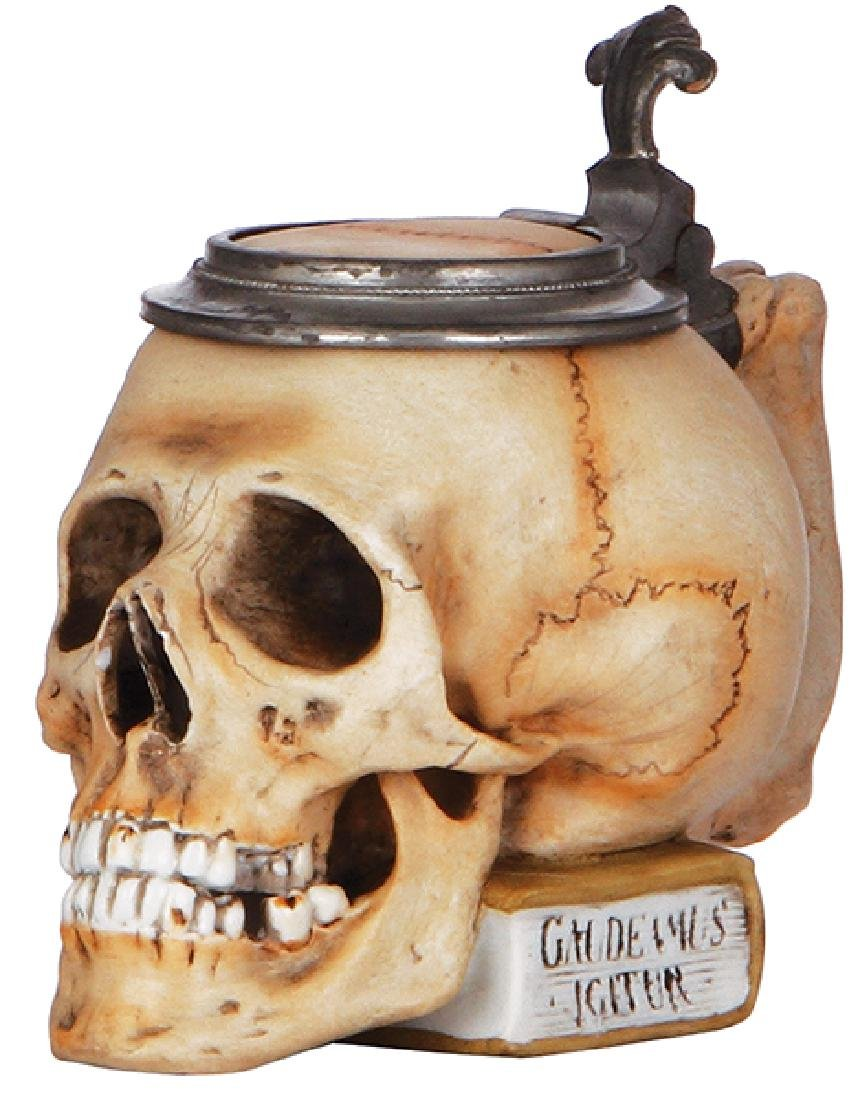 Character stein, Skull on Book