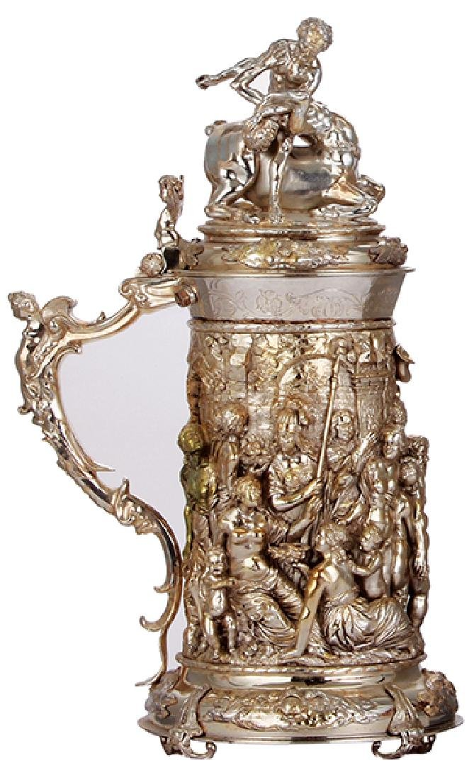 Silver-plated stein,