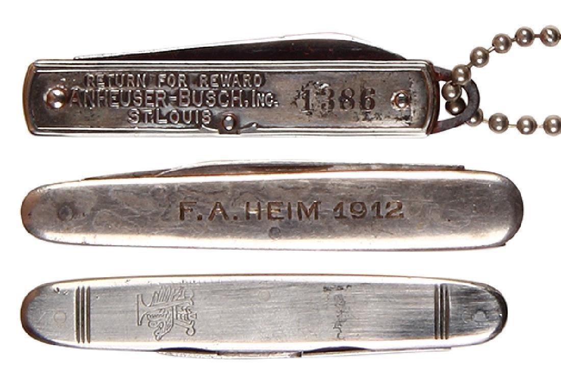 Three Anheuser-Busch pocket knives - 2
