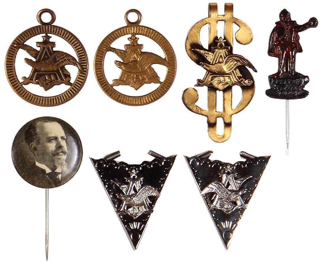 Seven Anheuser-Busch & Faust items