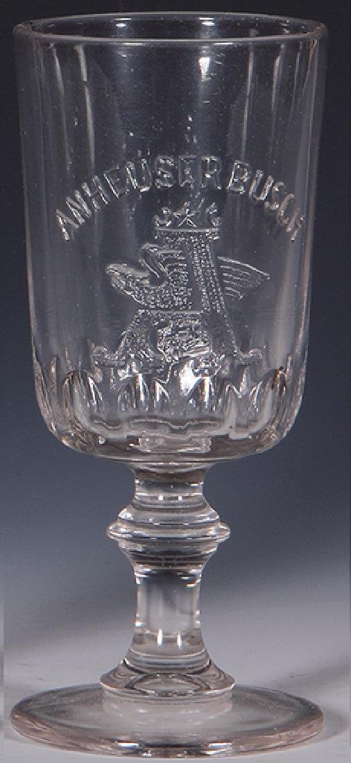 Pre-Prohibition embossed beer glasse