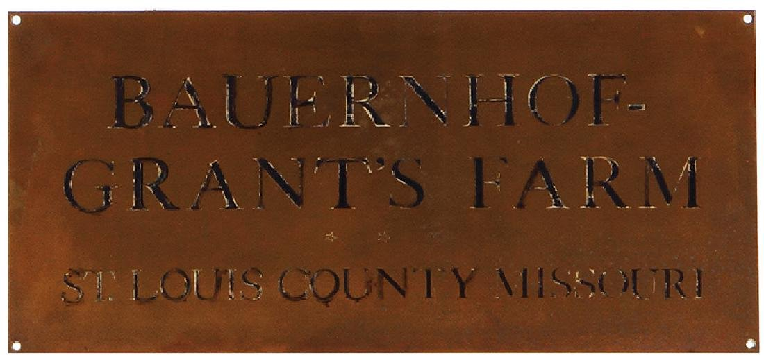Bauernhof-Grants Farm sign