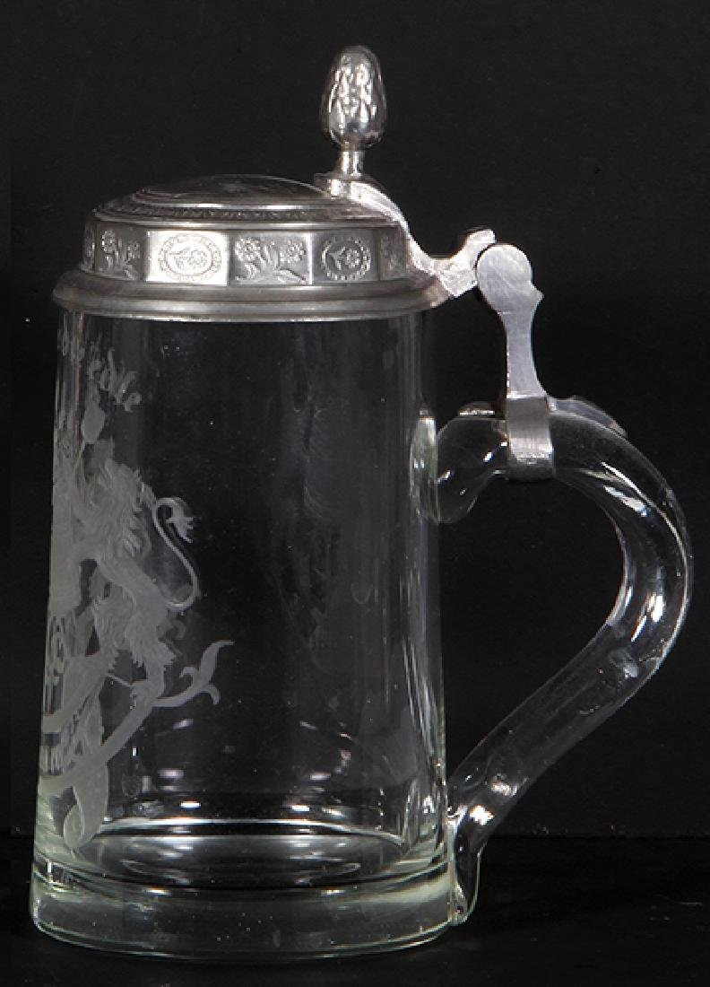 Glass stein, wheel-engraved - 2