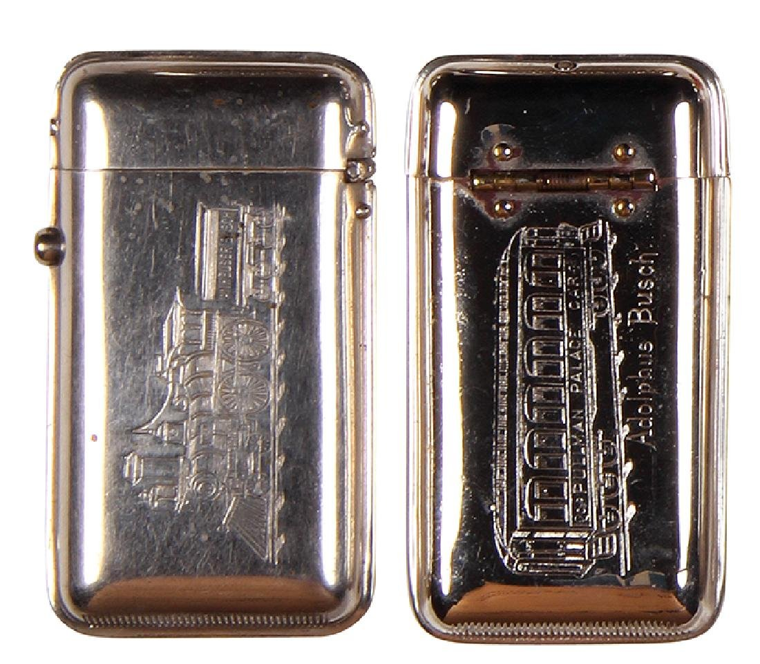 Two Anheuser-Busch match safes - 2