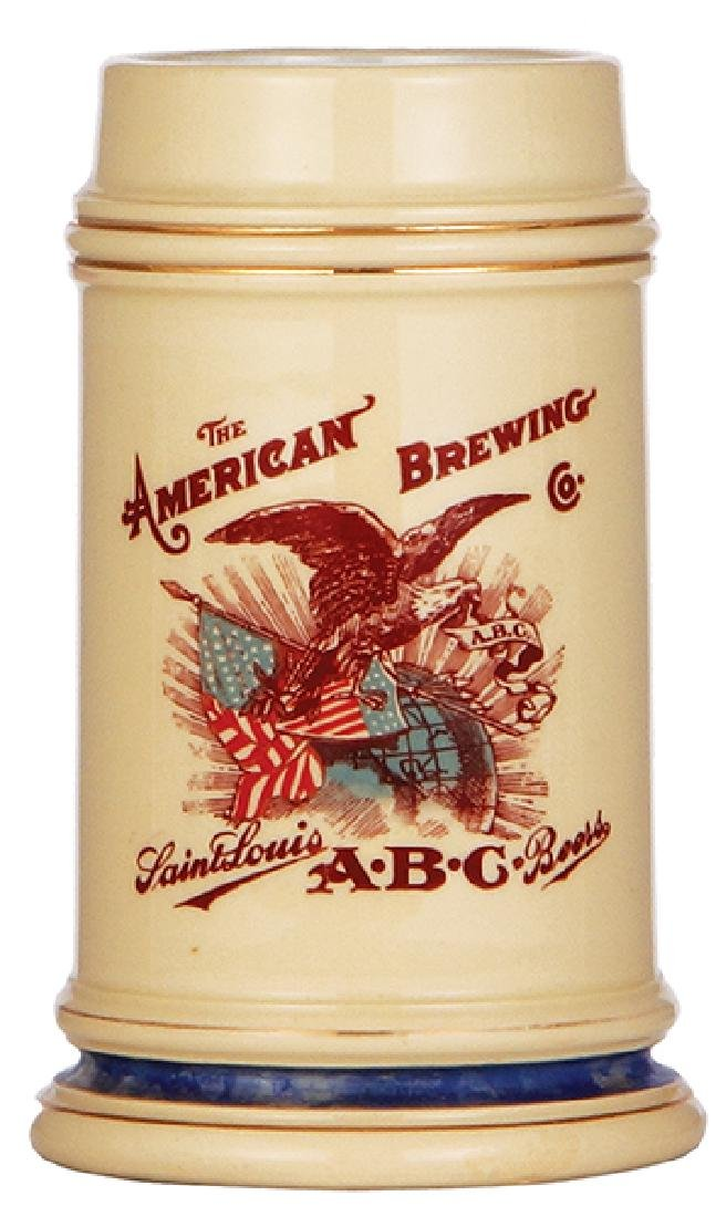 Pottery stein, The American Brewing Co.