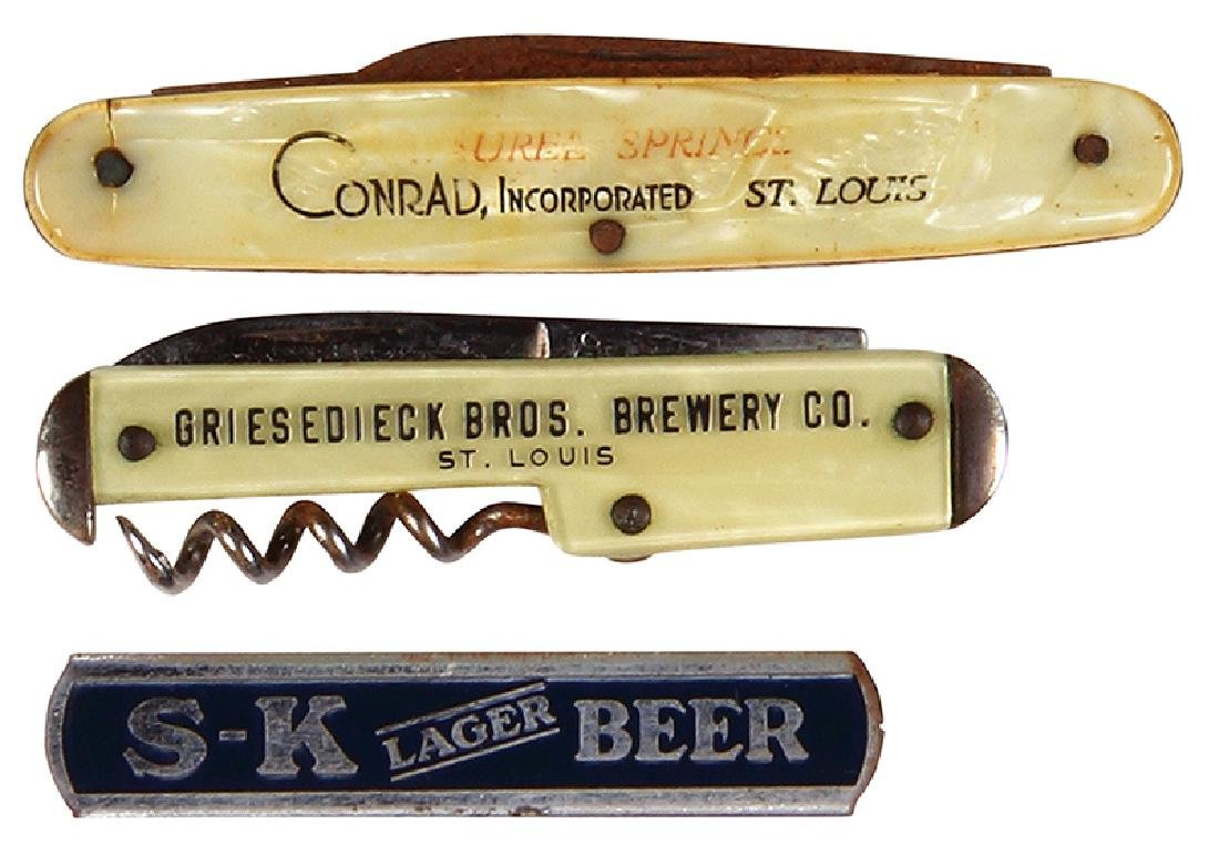 Three brewery knives