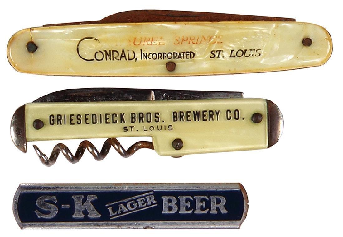 Three brewery knives