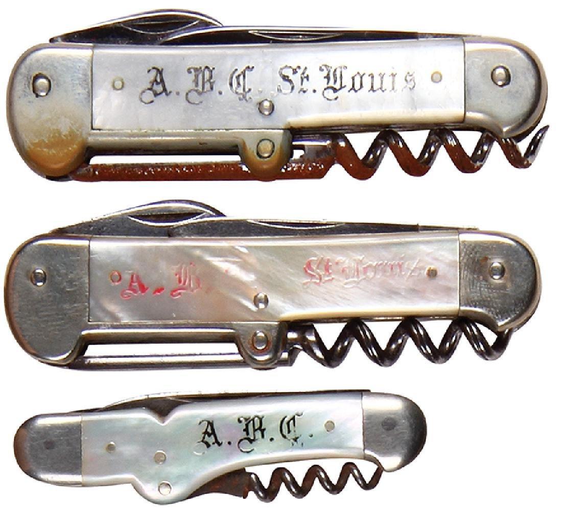 Three A.B.C. knives