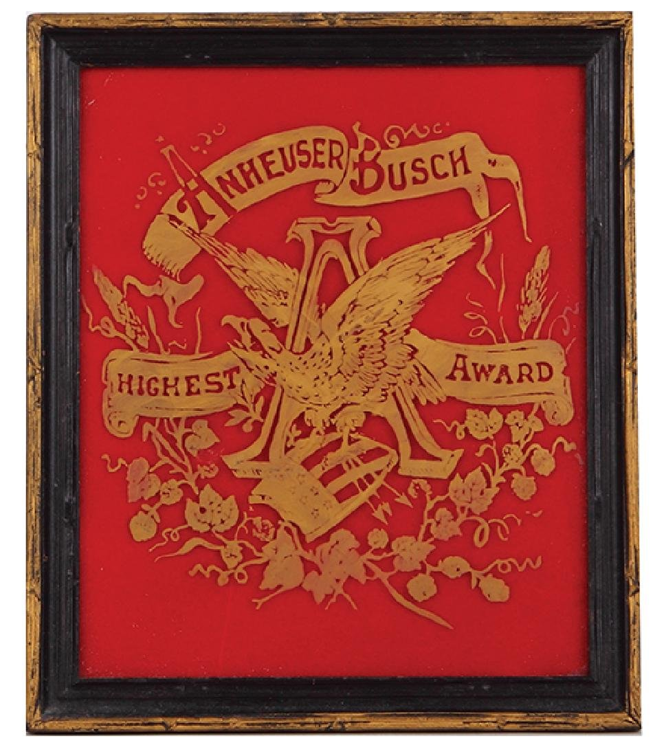 Anheuser-Busch Highest Award, framed