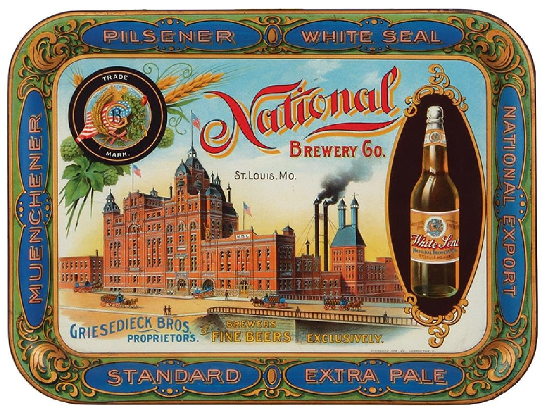 National Brewing Co. tray
