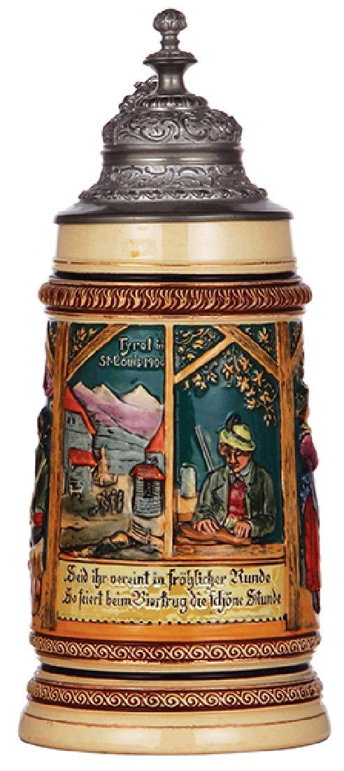 Pottery stein, 1904 Worlds Fair
