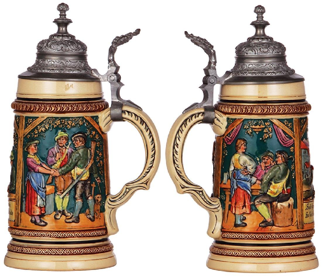 Pottery stein, 1904 Worlds Fair - 2