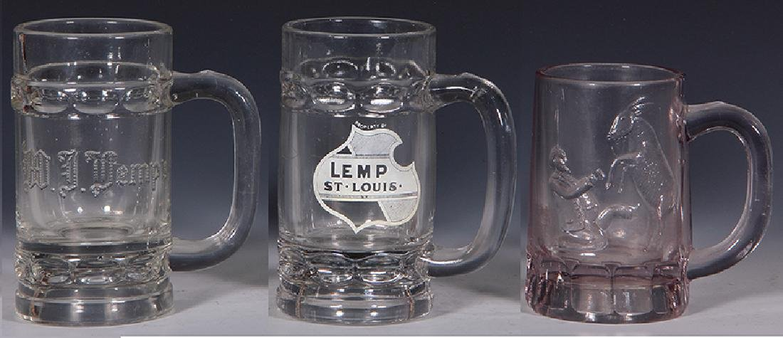 Pre-Prohibition beer glass mugs