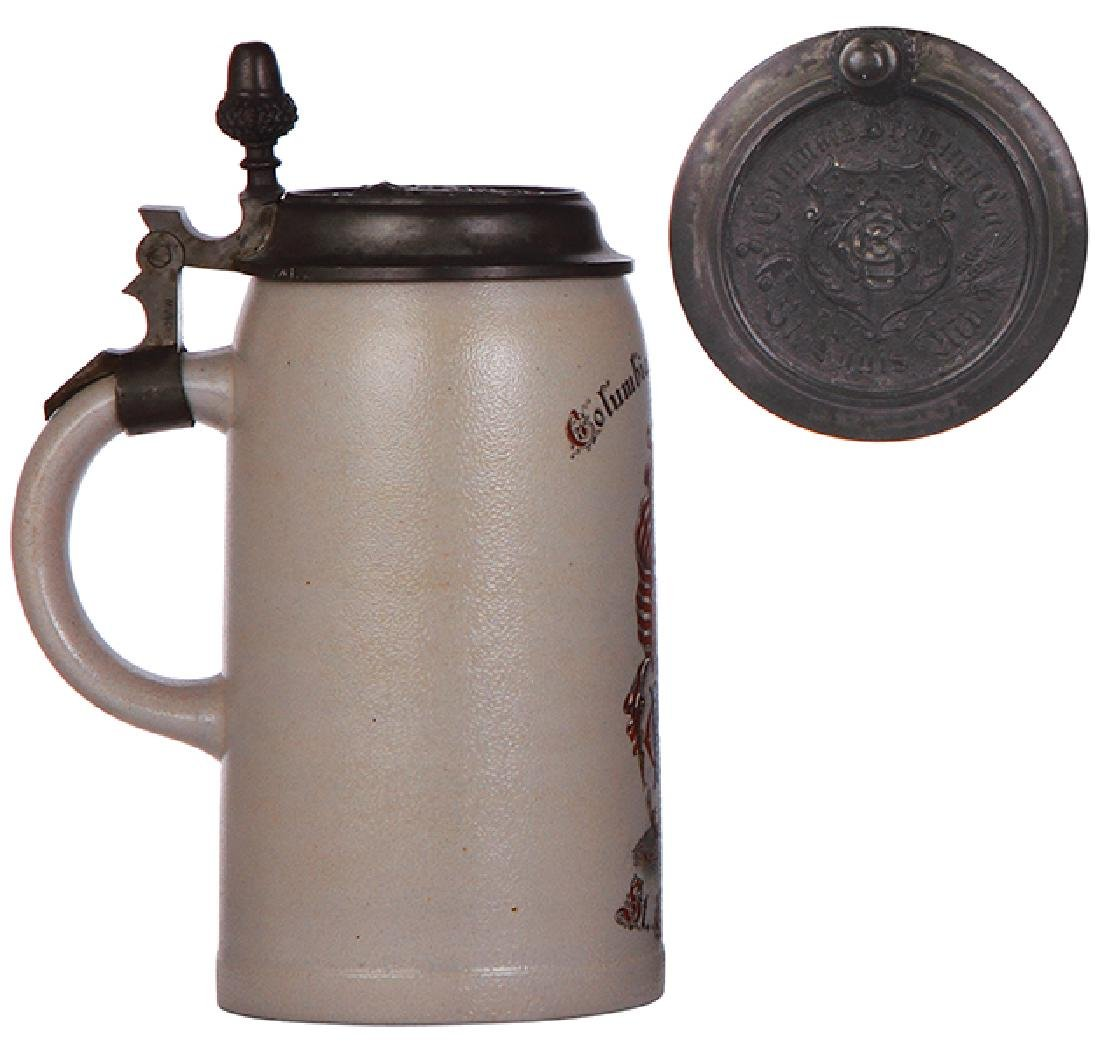Stoneware stein, Columbia Brewing - 3