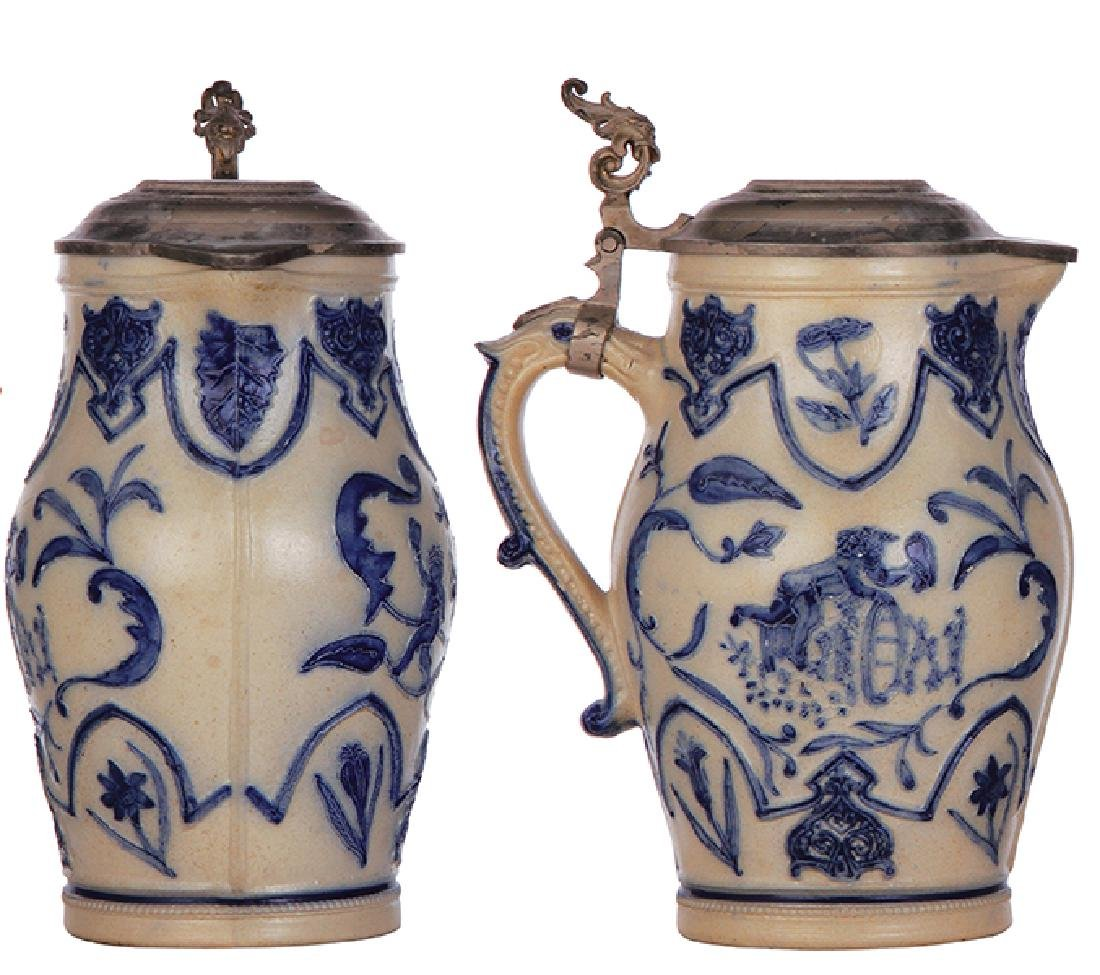 Two stoneware steins Whites, Utica - 2